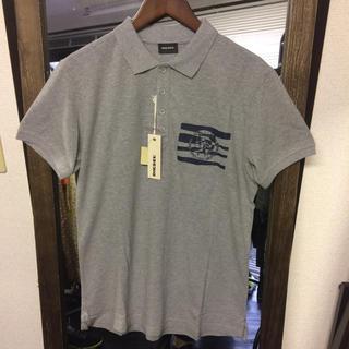 ディーゼル(DIESEL)の【新品】DIESEL バックプリント鹿の子ポロシャツ Mサイズ(ポロシャツ)