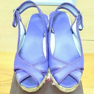 ガイモ(gaimo)のガイモ パープル サンダル 35 エスパドリーユ ジュート 麻  紫(サンダル)