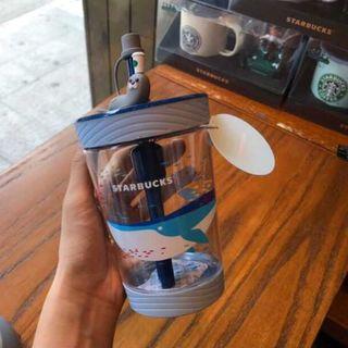Starbucks Coffee - スタバ Contigo 鯨 アザラシ コールドカップ 青 7月 海外限定 最安値