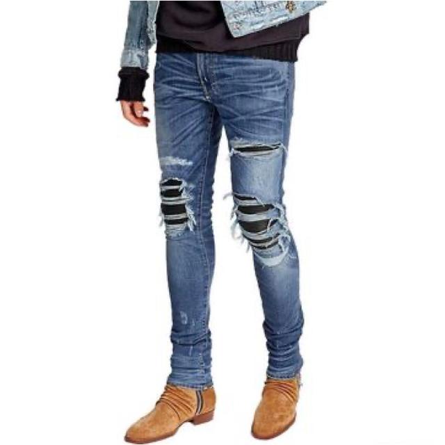 Saint Laurent(サンローラン)の定価25万 AMIRI(アミリ) distressed  ダメージジーンズ メンズのパンツ(デニム/ジーンズ)の商品写真