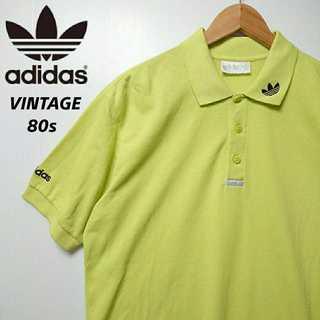 adidas - 539 80s 銀タグ レアデザイン アディダスオリジナルス ポロシャツ 刺繍