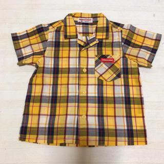 ミキハウス(mikihouse)のチエコサク チェックシャツ miki house 80(Tシャツ)