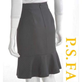 ナチュラルビューティーベーシック(NATURAL BEAUTY BASIC)の✴︎美品✴︎ P.S.FA イタリア太ストライプスカート(スーツ)