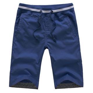 【新品】ネイビーM 短パン ハーフパンツ メンズ  半ズボン ショートパンツ(ショートパンツ)