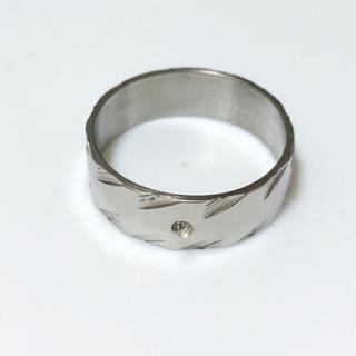 同時購入で300円 ステンレス指輪 斜めライン(リング(指輪))