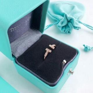 Tiffany & Co. - TIFFANY Tワイヤー ゴールド ダイヤ
