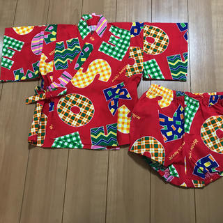 ミキハウス(mikihouse)のミキハウス 甚平 80 セットアップ 浴衣(甚平/浴衣)