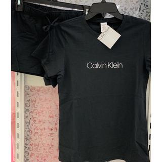 カルバンクライン(Calvin Klein)の【新品】 Calvin Klein USA  レディース 上下セット 黒 S(ルームウェア)