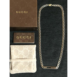 Gucci - GUCCI グッチ ネックレス シルバー Gカット 喜平 中古 美品 送料無料