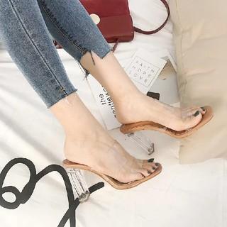 スナイデル(snidel)のclear heel sandal mule(サンダル)