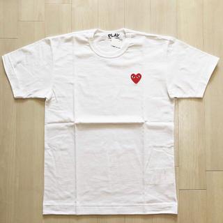 COMME des GARCONS - 送料込み 新品 プレイ コムデギャルソン ハート ロゴ Tシャツ ホワイト L