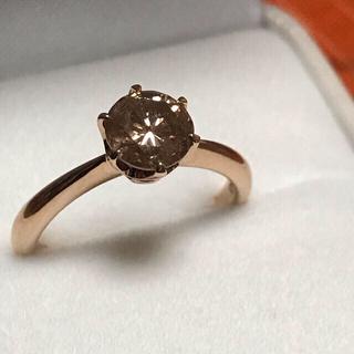 ☆ソーティング付き☆1カラット ファンシーブラウンダイヤモンド リング(リング(指輪))