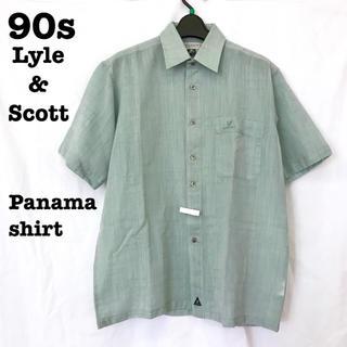 ライルアンドスコット(LYLE&SCOTT)の美品【 vintage LYLE&SCOTT 】  ミントグリーン パナマシャツ(シャツ)