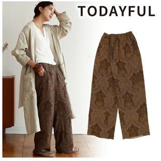 トゥデイフル(TODAYFUL)のtodayful Paisley Rough Pants ペイズリーラフパンツ(カジュアルパンツ)