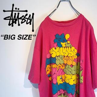 ステューシー(STUSSY)の【希少 ビッグサイズ】ステューシー ビッグ グラフィティロゴ Tシャツ(Tシャツ/カットソー(半袖/袖なし))