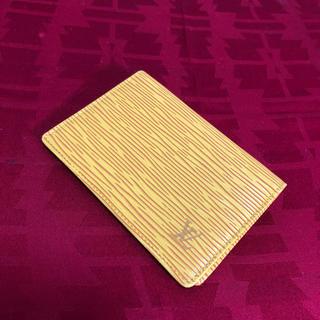 ルイヴィトン(LOUIS VUITTON)の未使用 LV ルイヴィトン エピ カードケース 名刺入れ 正規品(名刺入れ/定期入れ)