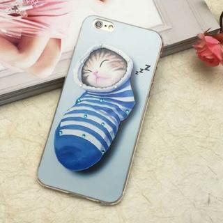 2つセット iPhone6 iPhone6s 居眠り ネコちゃん ソフトケース(iPhoneケース)