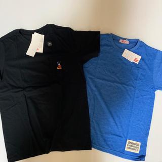 Tシャツ 2枚 160 ミッキー   胸ポケ(Tシャツ/カットソー)