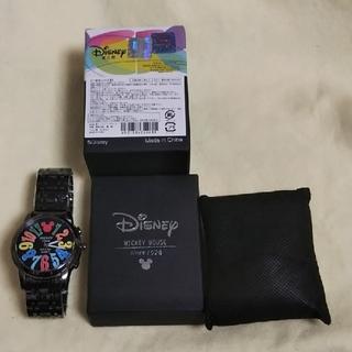 ディズニー(Disney)のミッキーマウスのデザイン時計(黒)①(腕時計(アナログ))