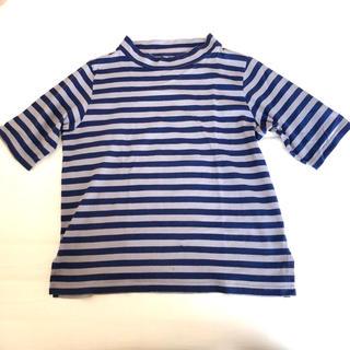 アニエスベー(agnes b.)の【レア】アニエス・ベー スタンドカラー ボーダー Tシャツ  5部袖(Tシャツ(長袖/七分))