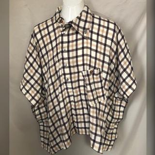 Vivienne Westwood - Vivienne Westwood MAN アシンメトリーチェックポンチョシャツ