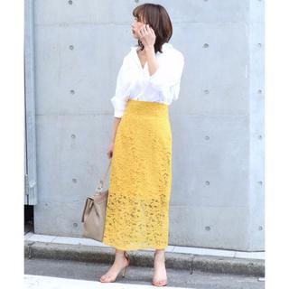 ノーブル(Noble)の【美品】Noble レースタイトスカート(ロングスカート)