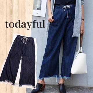 TODAYFUL - 新品タグ付*todayful フリンジイージーデニム