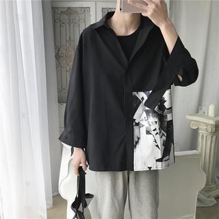 モード系 メンズシャツ ブラック☆