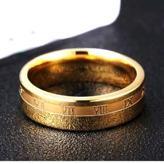 ★特A品★ゴールドローマ数字リング 16号(リング(指輪))