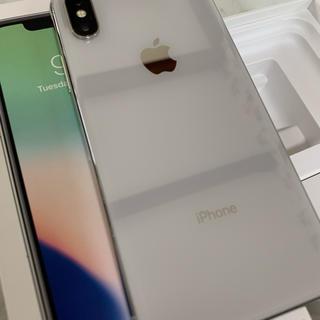 Apple - iPhone X 64G simフリー apple store 購入品 シルバー