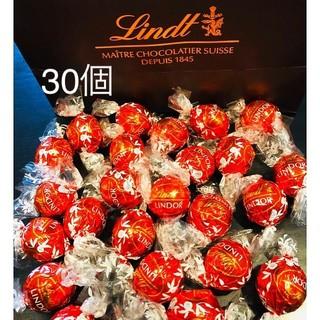リンツ(Lindt)のリンドール チョコレート ミルク 30個(菓子/デザート)