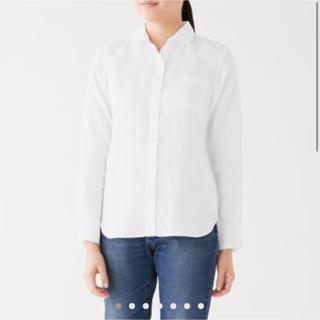 ムジルシリョウヒン(MUJI (無印良品))の無印良品 オーガニックリネン洗いざらしシャツ 白 L(シャツ/ブラウス(長袖/七分))