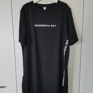 新品!ビッグシルエット スリットTシャツ(Tシャツ(半袖/袖なし))