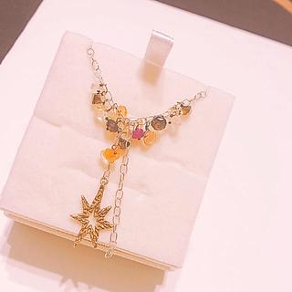 カオル(KAORU)のアトリエカオル 天然石&真鍮ネックレス(ネックレス)