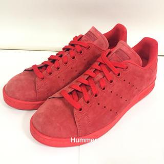 アディダス(adidas)の正規品 アディダス スタンスミス 24.5 スウェード 赤 極美品!(スニーカー)