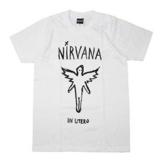 メンズ ニルヴァーナ Tシャツ IN UTERO ホワイト ニルバーナ M(Tシャツ/カットソー(半袖/袖なし))