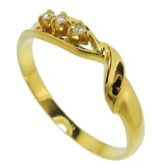 ダイヤモンド】指輪/リング K18(18金ゴールド) (リング(指輪))