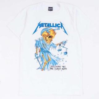 メタリカ METALLICA Tシャツ メンズ 三代目着用 XL 白(Tシャツ/カットソー(半袖/袖なし))