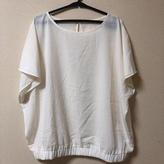 ジーユー(GU)のGU 大きいサイズ XL シンプルナチュラルブラウス(シャツ/ブラウス(半袖/袖なし))