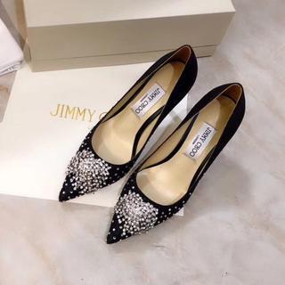JIMMY CHOO - JIMMY CHOO ジミーチュウ 靴/シューズ ハイヒール パンプス 黒 36