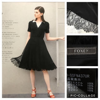 FOXEY - 新品同様 2018年 フォクシー FOXEY 掲載 プリーツレーススカート