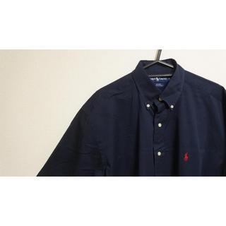 ラルフローレン(Ralph Lauren)の90's Ralph Lauren BDシャツ 刺繍ロゴ 人気のネイビー(シャツ)