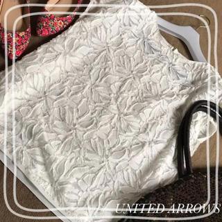 UNITED ARROWS - ユナイテッドアローズ  ブラウス 日本製 花柄 透け感 シャツ 半袖 春夏
