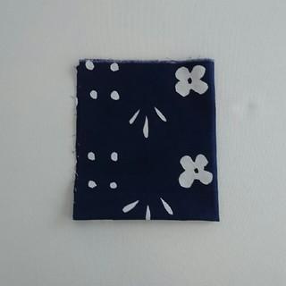 マリメッコ(marimekko)の①紺 クッカケト はぎれ生地 マリメッコ ヴィンテージ(生地/糸)