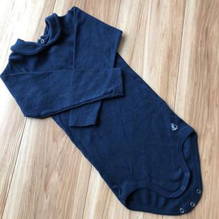 プチバトー(PETIT BATEAU)のプチバトー 丸襟 ロンパース カットソー Tシャツ 24m 86㎝ ブラウス (シャツ/カットソー)