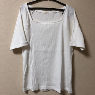 ジーユー(GU)のGU 大きいサイズ XL シンプルナチュラルカットソー(カットソー(半袖/袖なし))