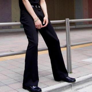 Maison Martin Margiela - センタープレス  フレアパンツ  ブラック