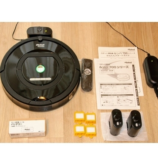 iRobot - [美品] ルンバ770 + 新品純正バッテリー + ヴァーチャルウォールx2など