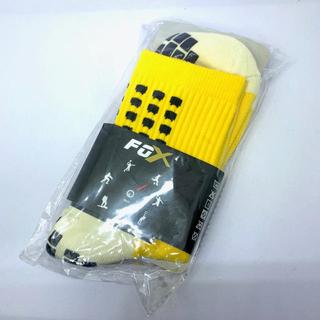 新品 滑り止め付き スポーツソックス レアカラー 黄 イエロー 2足セット(ソックス)