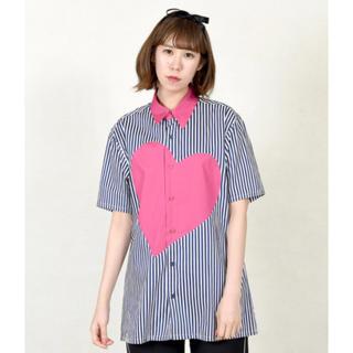 ミルクボーイ(MILKBOY)のMILKBOY HEART シャツ チェリー ピンク ハートシャツ (Tシャツ/カットソー(半袖/袖なし))